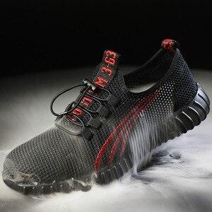 Image 5 - 2019 ใหม่ความปลอดภัยรองเท้าสำหรับชายฤดูร้อนBreathableรองเท้าน้ำหนักเบาAnti Smashingรองเท้าชายทำงานก่อสร้างตาข่ายรองเท้าผ้าใบ