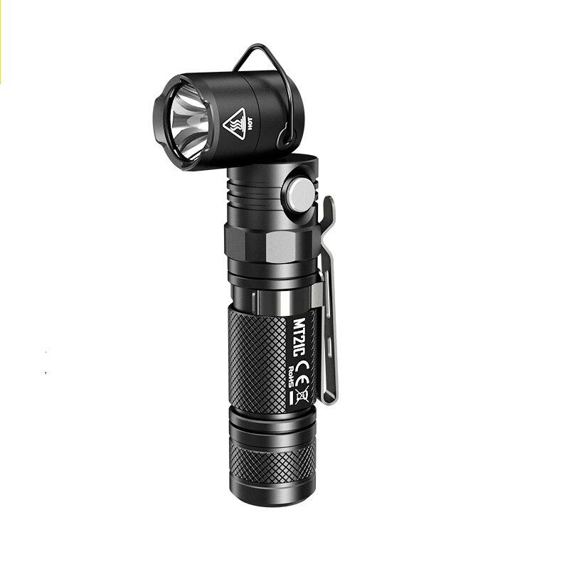 NITECORE MT21C Torche Anglelight CREE XP-L HD V6 1000LM 90 Degrés Angle Réglable Tête LED Lampe DE Poche par 18650 Batterie