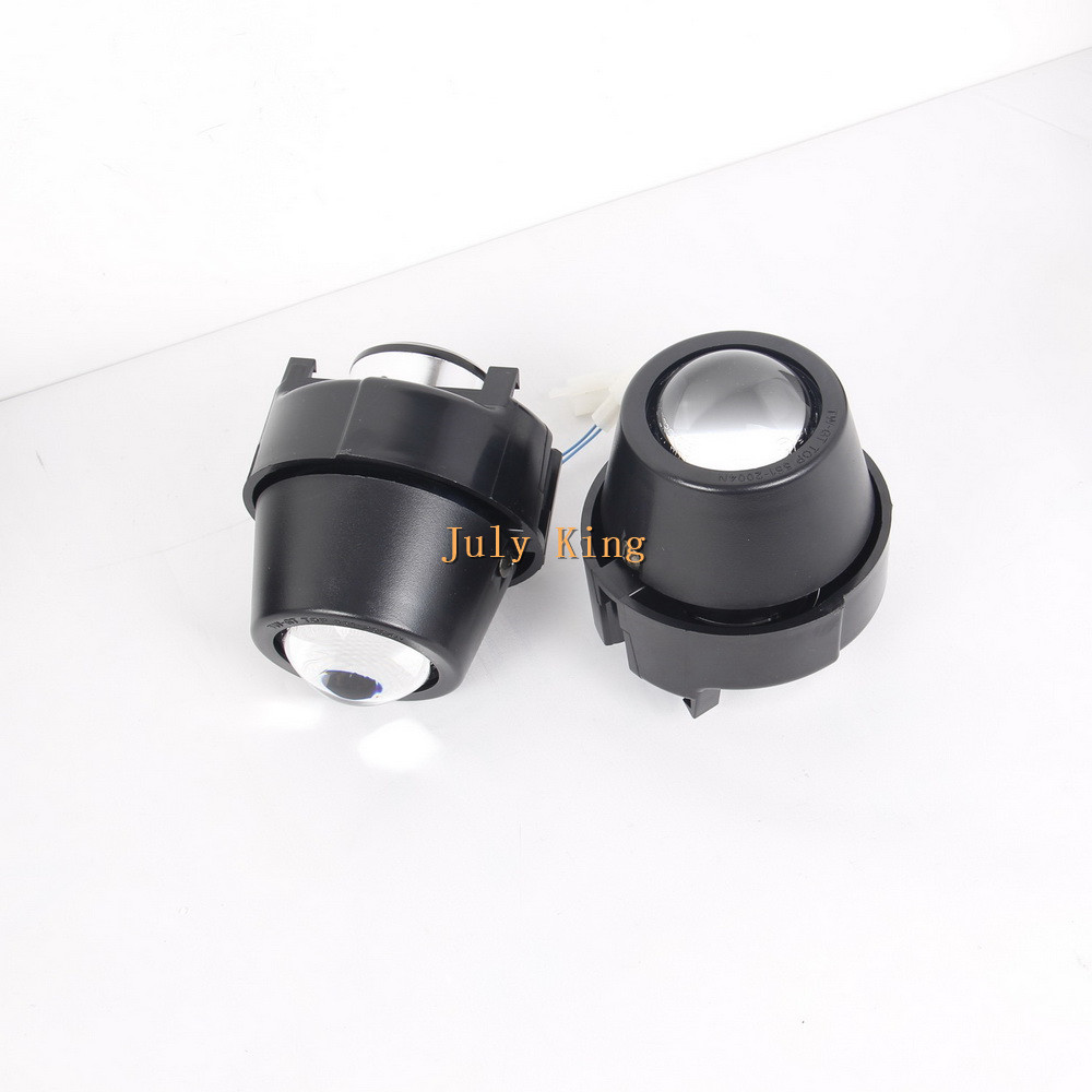 July King Car Bifocal Lens Fog Lamp Assembly Case for Nissan Kubistar Renault Kangoo Laguna Megane Scenic Trfic Twingo etc. july king bifocal lens fog lamp cob angel eye rings drl case for suzuki alto sx4 swift splash daci a mazda bt 50 fiat dfmc etc