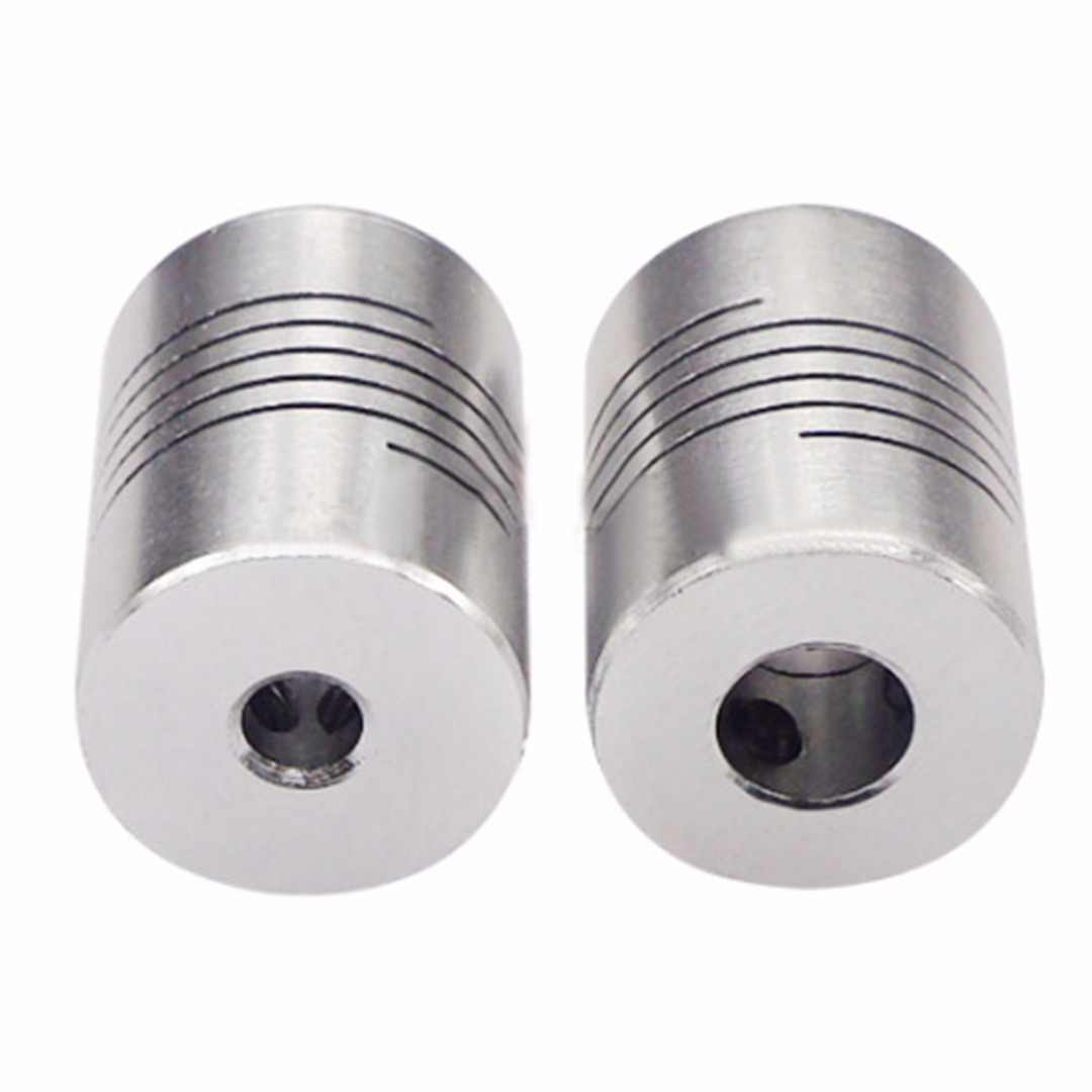 Paduan Aluminium Fleksibel Poros Coupling Screw Driving CNC Motor Stepper Skrup Konektor DIY 3D Printer Aksesoris Mayitr