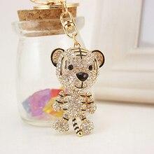 Lovely Tiger Rhinestone Charm Pendant Key Bag Chain Gift Keyring Keychain