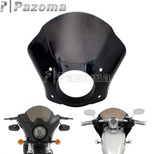 Gauntlet Headlight Fairing W/Trigger Lock Mount Kit for Harley Sportster 883 1200 Custom Iron Low 1986-2015 цены онлайн