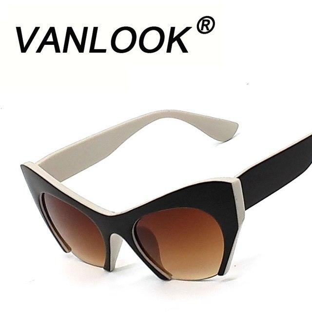 Olho de gato óculos de Sol Das Mulheres Designer De Marca Oculos de sol  Óculos de 1c18ca079c