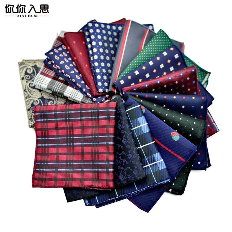 Cotton+Polyester Handkerchief Floral Printed Pocket Square Wedding 23cm*23cm Hankies For Men Brand Pocket Towel