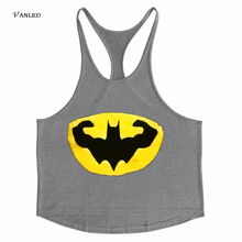 VANLED 2017 Hot Selling Men Muscle Tank Tops T-shirt summer Fitness Pure Cotton Big Size Casual Batman Pattern 3 piece/lot Z0130