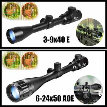 CVLIFE Tactical Rifle Scope 3-9X40 E / 6-24X50 AOE Red Green Illuminated Optics Hunting Scopes w/ 20mm Mounts - SALE ITEM Sports & Entertainment