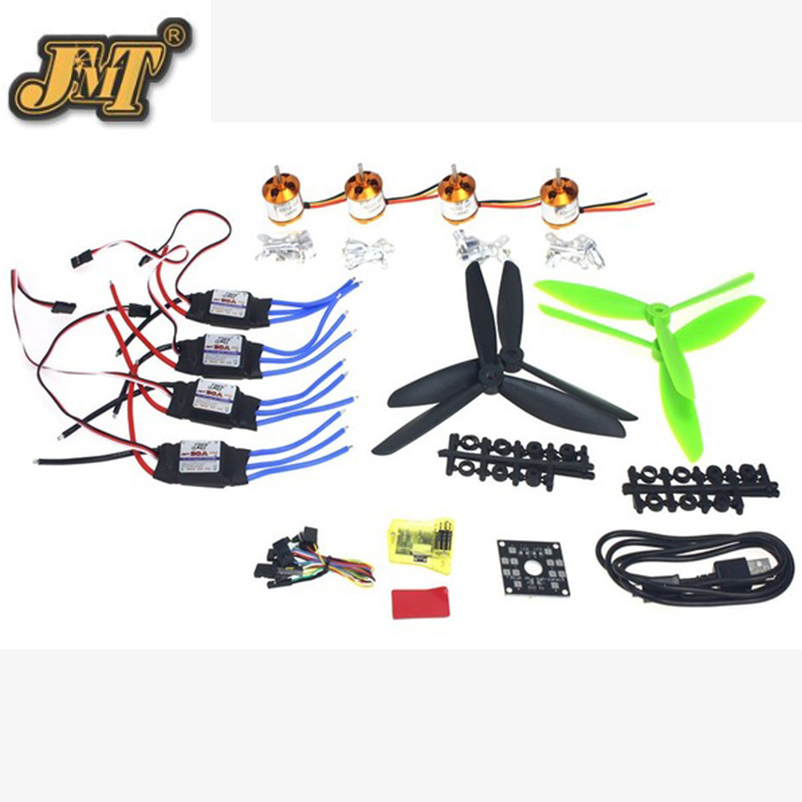 JMT DIY Drone 4 axis Mini Quadrocopter ARF Kit Brushless Motor 30A ESC CC3D Controller Board