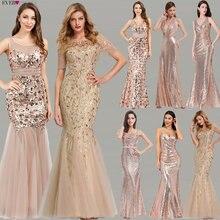 Вечерние платья размера плюс с золотыми блестками, элегантные женские вечерние длинные платья с v-образным вырезом, Abendkleider