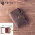 2017 new winter retro handmade leather goods leather notebook A7 Traveller passport cover passport bag crazy horse leather