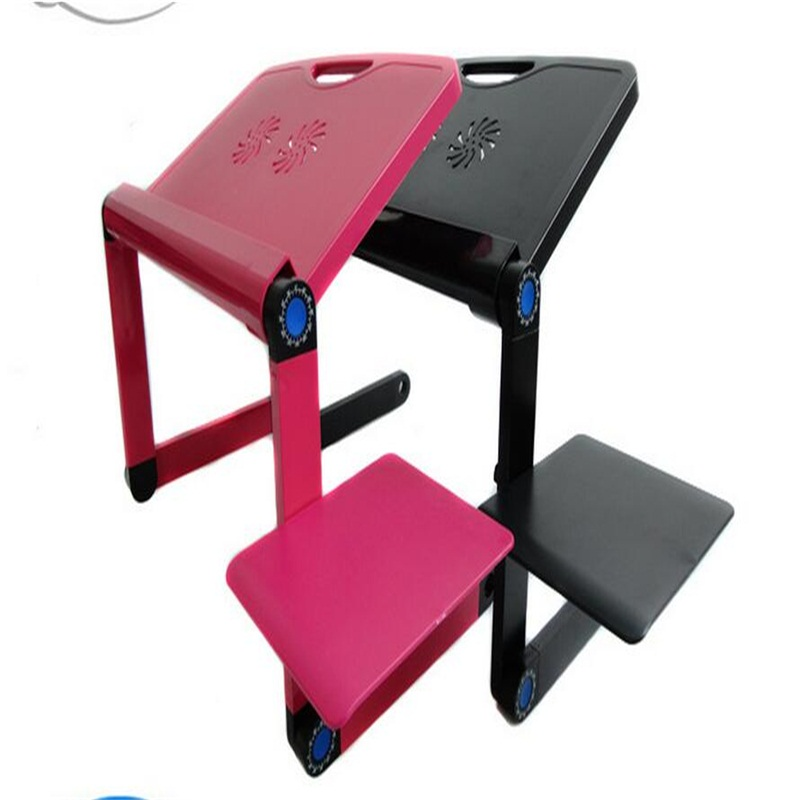 Wholesale Multifunctional Portable Laptop desk Bed Folding Tablet PC desk with USB fan and mouse board wholesale multipurpose folding laptop desk portable bed tablet pc desk