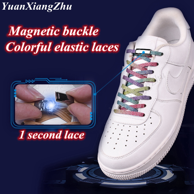 Magnetic ShoeLaces 2019 New Elastic Locking ShoeLace Creative Quick No Tie Shoes Lace Kids Adult Unisex Sneakers Laces Strings