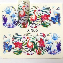 1pcs Butterfly Nail Water Transfer Decals Art Sticker Flowers Watermark Sliders Wraps Decoration Manicure A01/A02/A03/A04