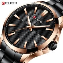 CURREN Uhren Männer Mode Uhr 2019 Luxus Edelstahl Band Reloj Armbanduhr Geschäfts Uhr Wasserdicht Relogio Masculino