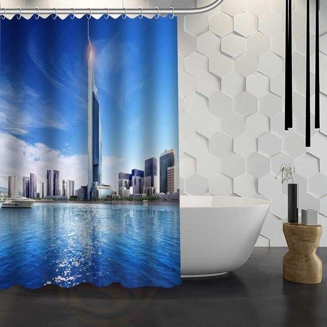 Personnalisé Paysage De Dubai Rideau De Douche Tissu Imperméable ...