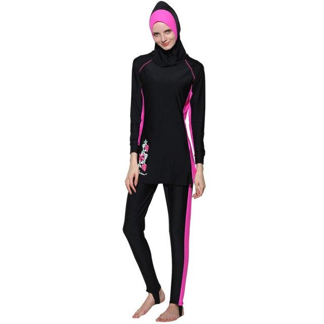 29d4367aba New Muslim women swimwear islamic swimsuit long sleeve bathing suit girls  plus size swimsuit modest swimwear hoodie hijab suit