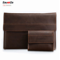 For Macbook Pro 13 Inch Case Luxury Retro Genuine Leather Bag For Macbook Air 11 12