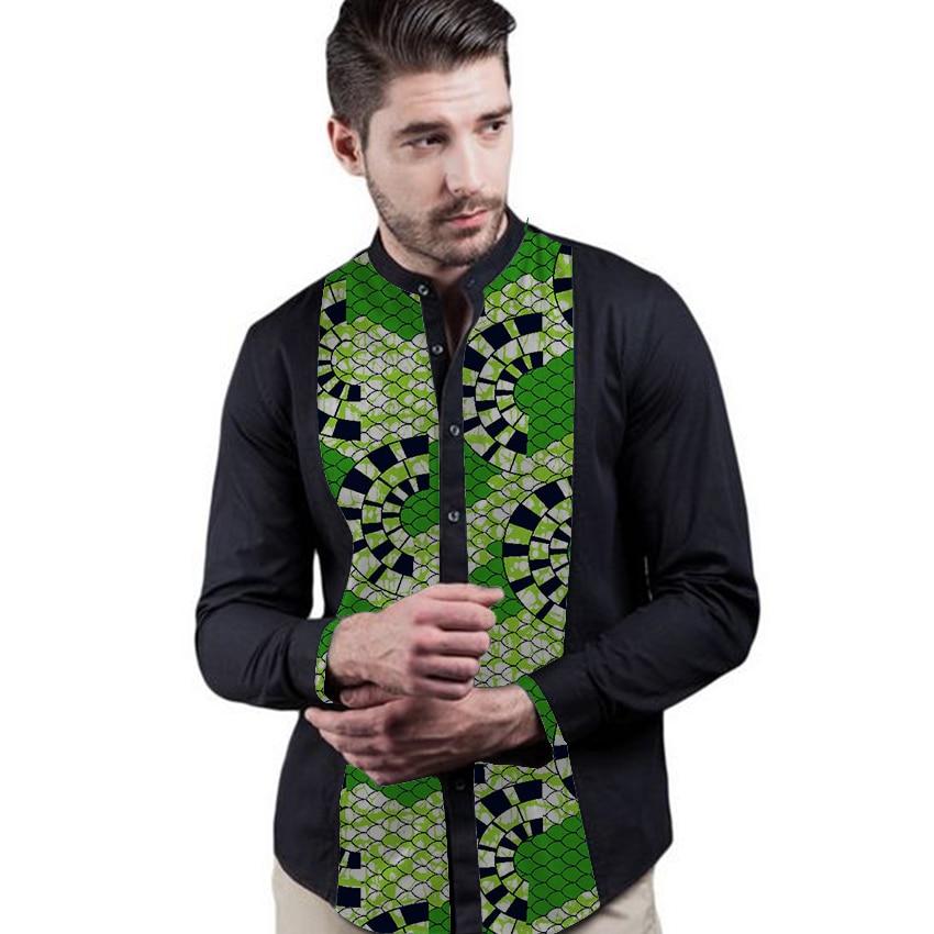 Impresión africana para hombre camisas dashiki ropa africana - Ropa nacional