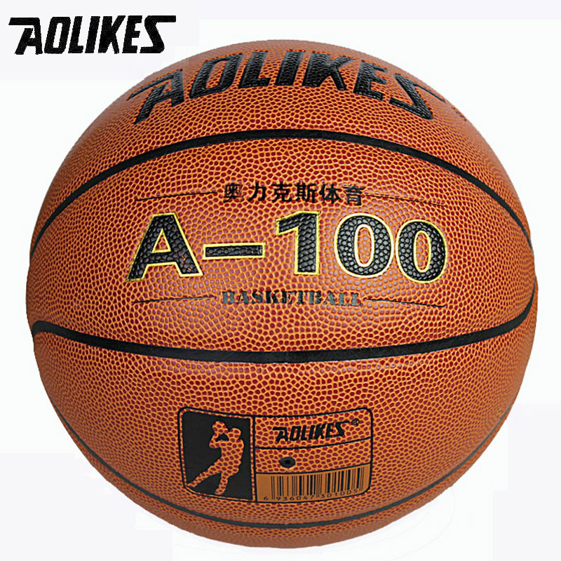 High Quality Size7 New PU Leather Basketball AOLIKES Brand indoor and outdoor Ball Training Equipment Free With Net Bag and Pins толстовка классическая anteater crewneck stripe black