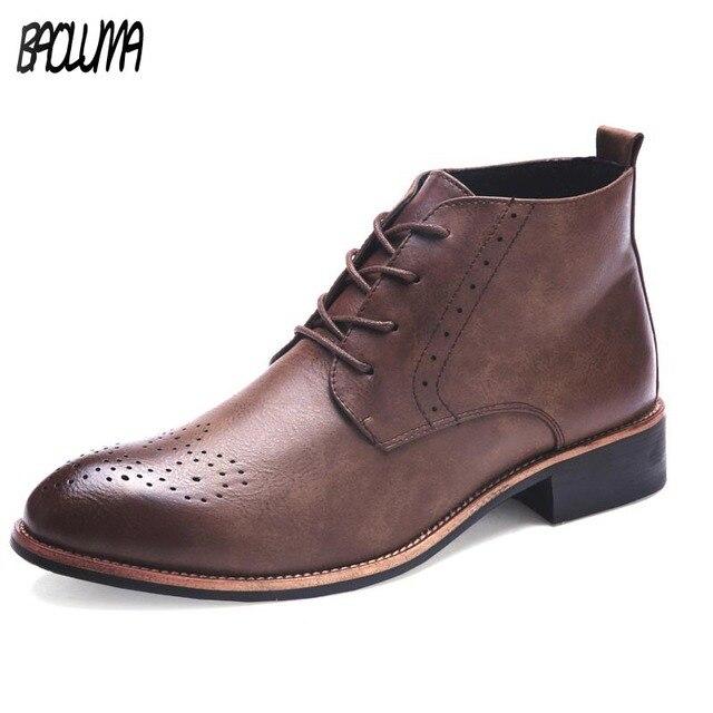 Мужские деловые туфли с острым носком Повседневное Мужская обувь модные мужские оксфорды Туфли без каблуков удобные офисные туфли Для мужчин платье ботильоны Большие размеры 38–45