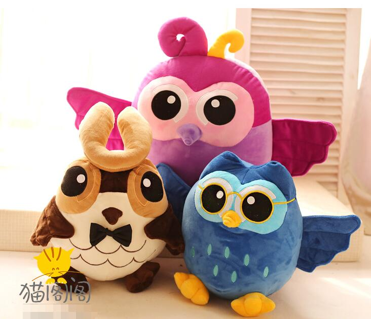Candice guo plush toy stuffed doll cartoon animal bird colorful owl soft pillow cushion baby birthday present christmas gift 1pc  hot sale 2pcs 18cm super cute night owl plush toy doll baby toys owl stuffed animal doll best gift for kid free shipping