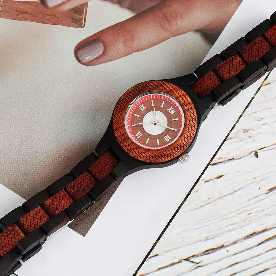 Women Watch Creative Multi-layer Circle Chic Dress Watch Dial Analog Light Slim Wooden Bracelet Quartz Wristwatch for Lady Girls 2020 (8)