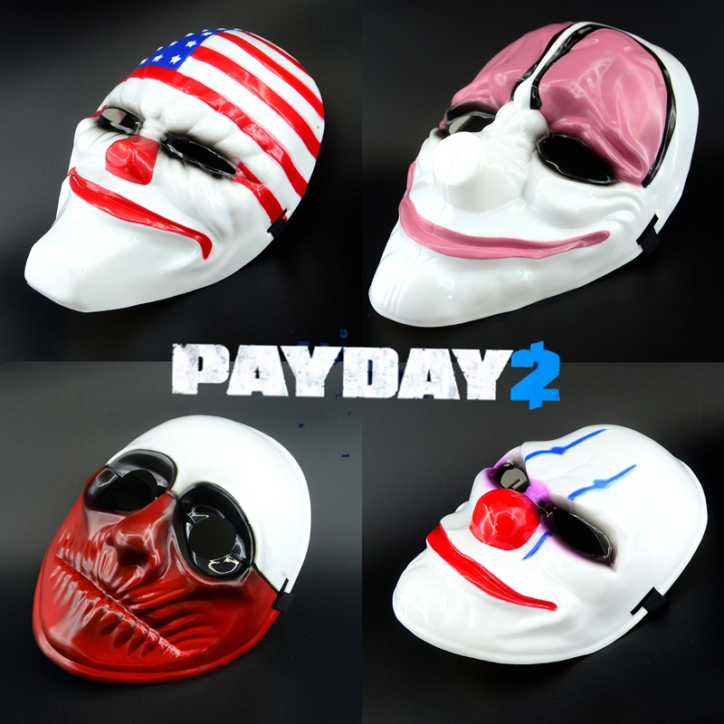 "1//6 Scale Hot Payday 2 Wolf Joker Mask  For 12/"" Action Figure Toys"