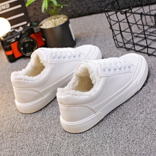 Pink Shoes Sneakers Black White Women 35-40 Chic All-Match Mujer Winter Solid Zapatillas-Deportivas