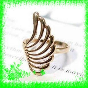 Free Shiping+500pcs Vintage Wing Style Fashion Ring Adjustable