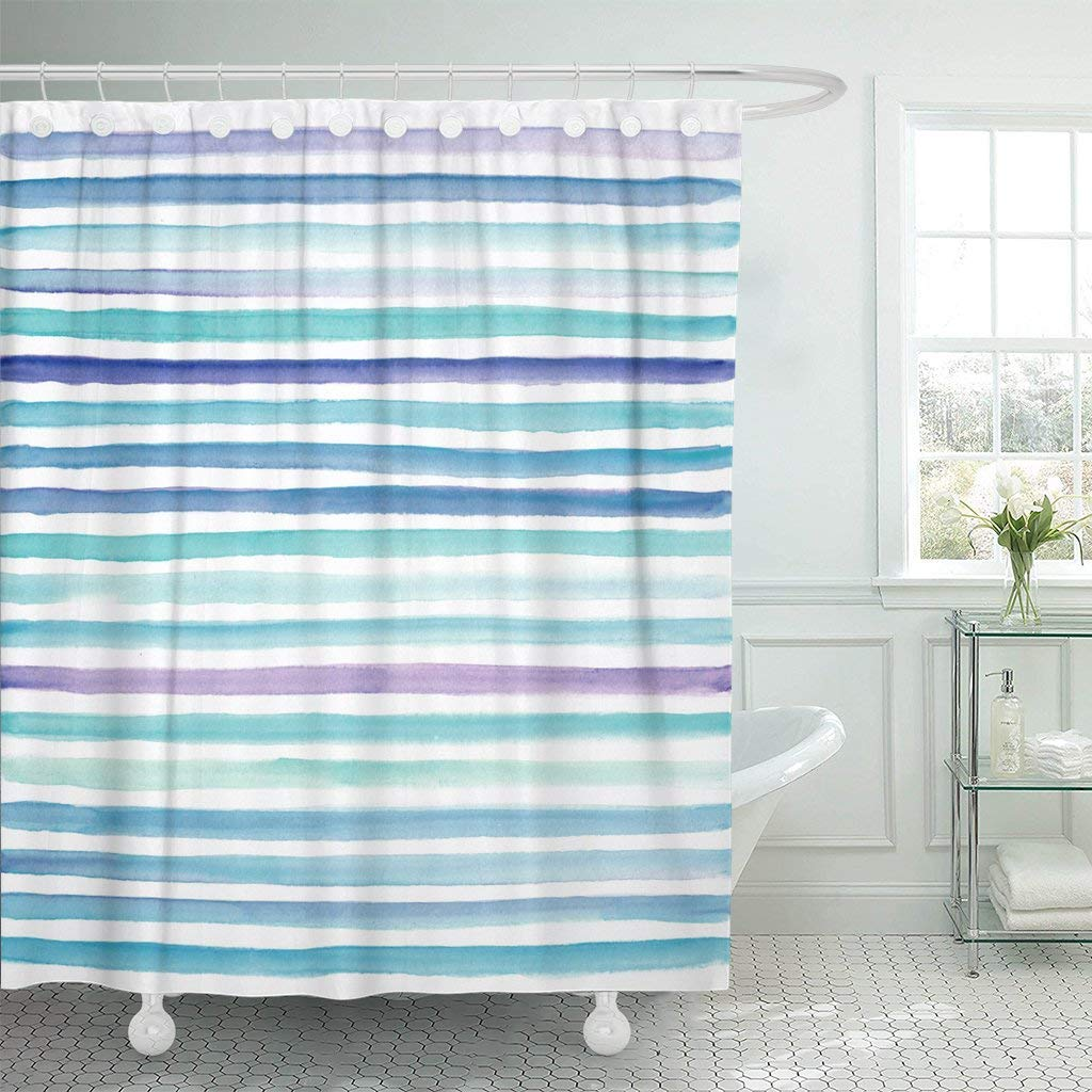 Fabric Shower Curtain with Hooks Colorful Color Abstract