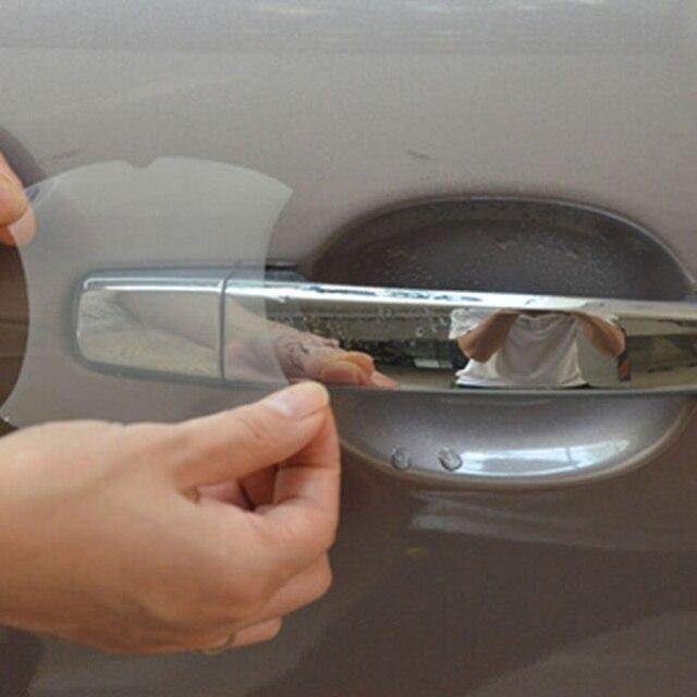 4Pcs/Set Car Handle Protection Film Car Exterior Transparent Sticker For Skoda Fabia Rapid octavia Superb Yeti 2017 Citigo