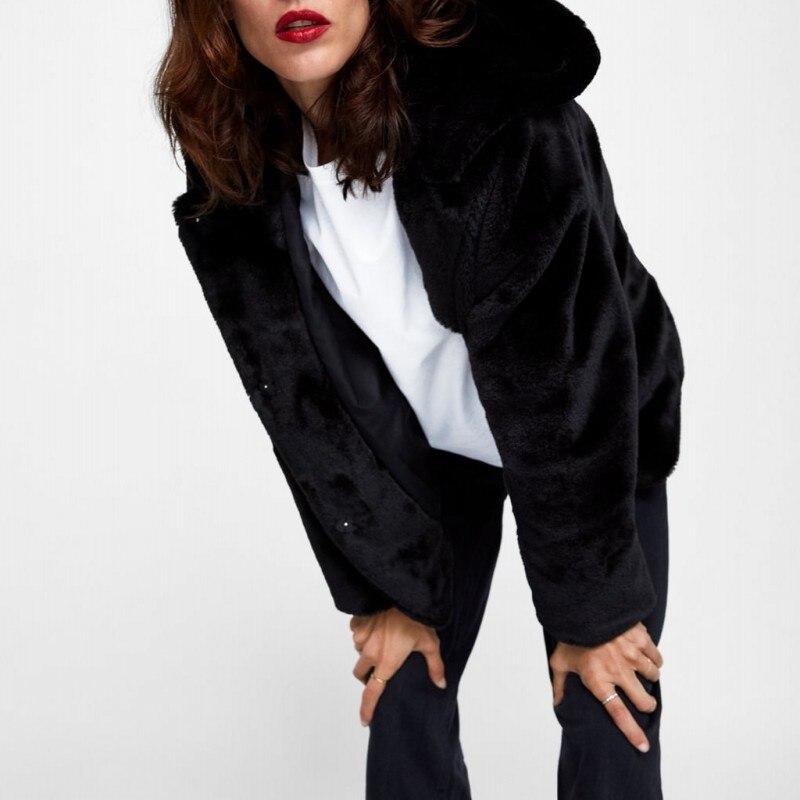 Mode De Femme 2019 À Vêtements 1 Hiver Fourrure Dames Faux Nouveaux Court Supérieure D'extérieur Marque Chaud Manteau Décontracté 2 Épais Capuche Solide Qualité xqX4SwYW