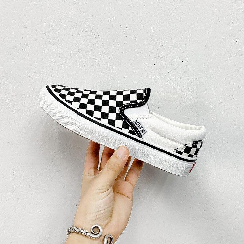 Men's Shoes Skateboard Couple Black-And-White New Footwear Sports Single-Fashion Leisure