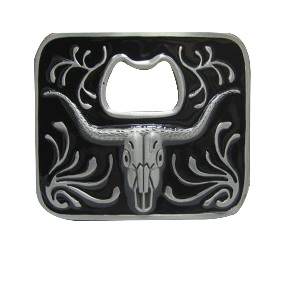 Fashion boy and girl classic bottle opener 3D belt buckles metal bull head diy cowboys buckle belt for mens and women designer