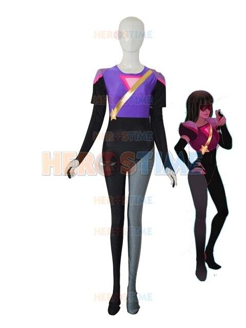 El más nuevo granate de steven universe Superhero traje spandex lrcra mujer  Halloween Cosplay zentai traje f169379b2a0
