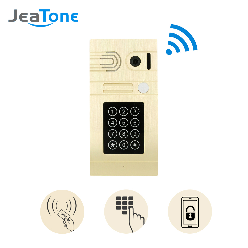 jeatone gold passwords and credit card and wifi camera door bell smarter unlock control video by. Black Bedroom Furniture Sets. Home Design Ideas