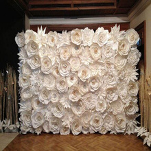 Фотография 80PCS SET Gaint Wedding Flowers Wall Handmade DIY Mix flowers as Wedding Backdrop Deco 2.5X3 meters