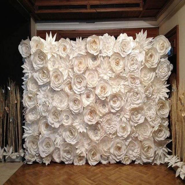 128PCS SET Gaint Wedding Paper Flowers Wall Handmade DIY Mix As Backdrop Deco 25