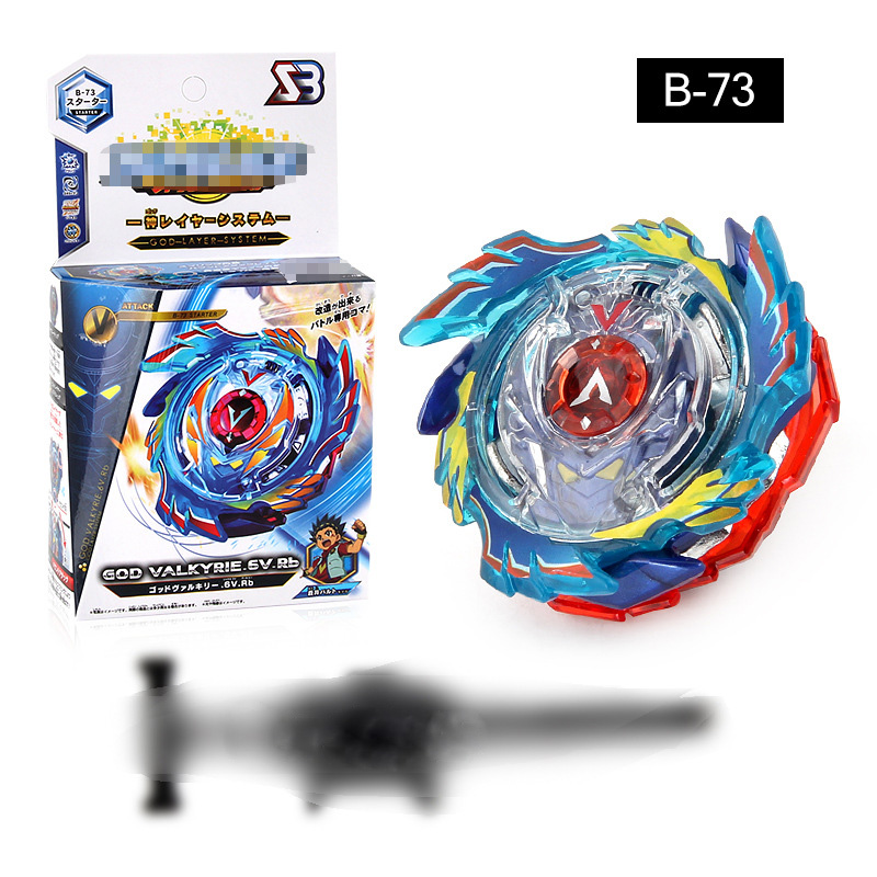 2019 New 4D Blayblade Burst Assembled Alloy Revolving Spinning Top God Valkyrie Gyroscope Blade Blades Battle Toys Launcher B73