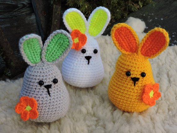 Amigurumi Crochet Bunny Bookmark | 428x570