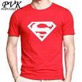 2017 Nova Moda superman t shirt homens POPVISKEY marca T camisa Homme Verão Manga Curta Camisas ocasionais Dos Homens T Topos Tees