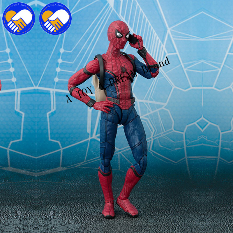 NEW 15cm Spider Man Homecoming Spiderman by SHFiguarts PVC Action Figure Collectible Model Toy with Retail Box