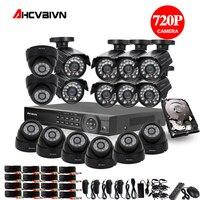 2TB HDD 1.0MP HD 2000TVL security bullet camera CCTV System Kit 16channel AHD Full 720P Video Surveillance 1080P DVR NVR system