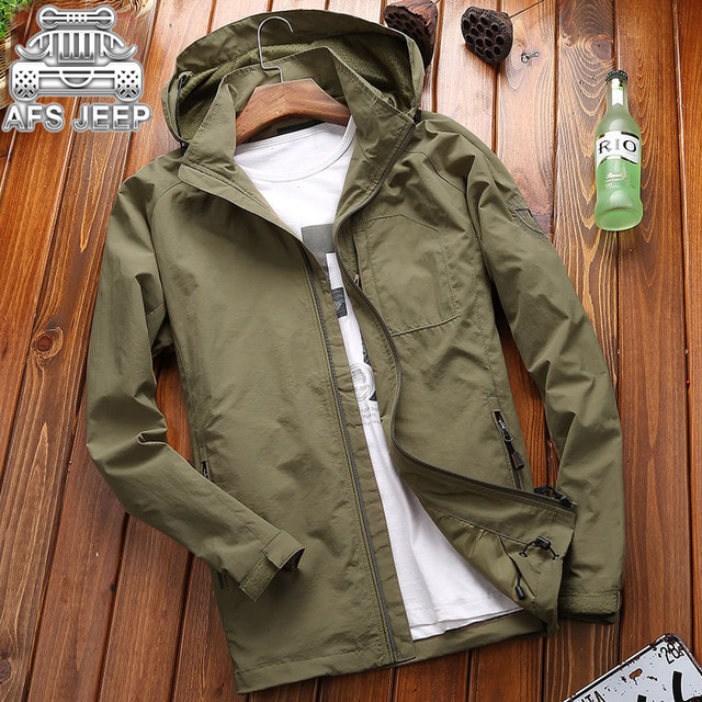 AFS JEEP Brand Clothing Autumn Men Sport Jacket Outdoor Camping Coat Male Fall Hiking Windproof Clothes