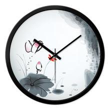 ronde horloge nouvelle chinois horloge murale style chinois horloge murale salon decoration