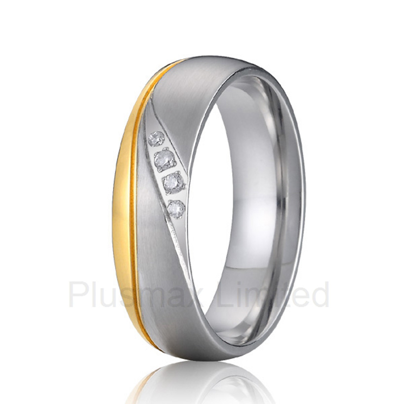 Best China titanium jewelry factory an extensive collection of truly lovey promise wedding band rings for women best china factory amazing selection of gold color heart shape titanium wedding band rings for couples