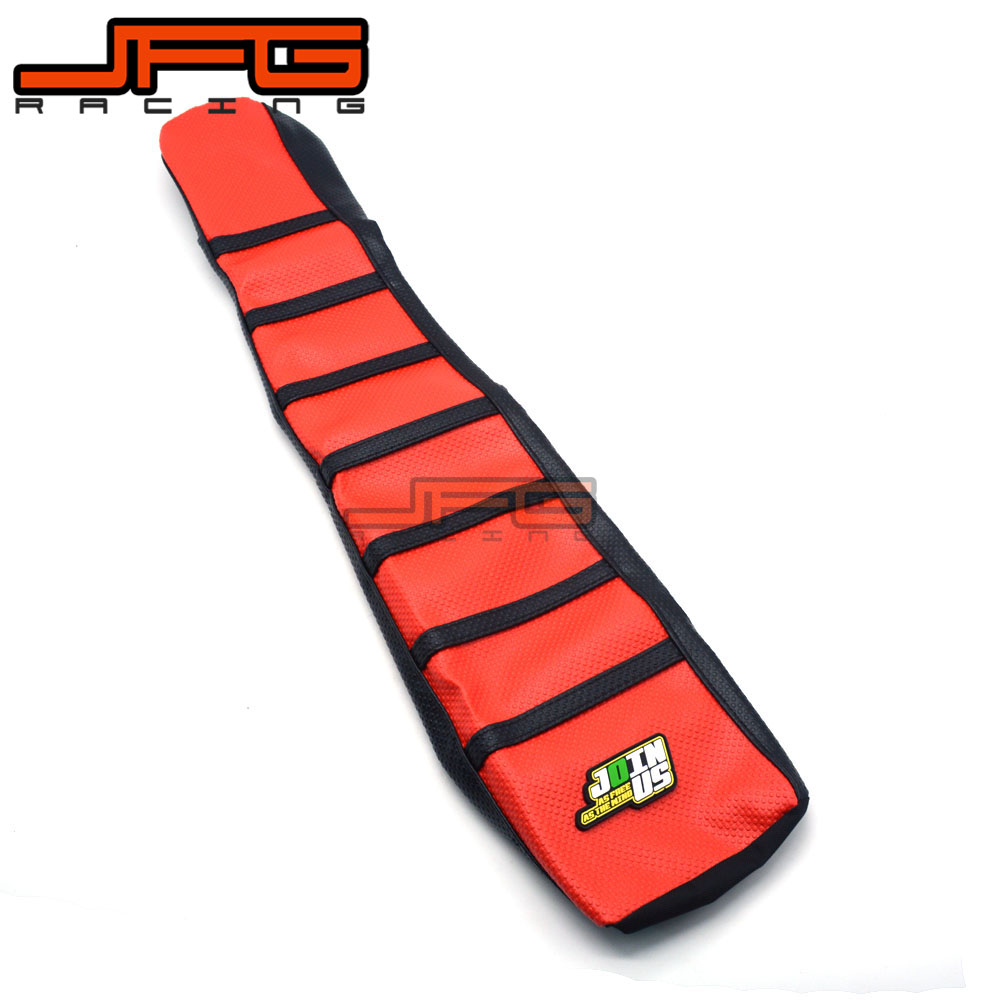 Motocycle Red Rubber Soft Gripper Seat Cover For Honda CR500R CR500 R 1991 1992 1993 1994 1995 1996 1997 98 99 00 01