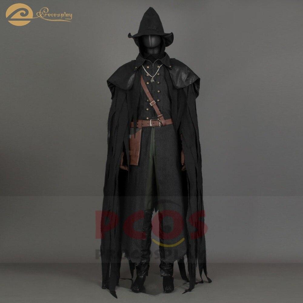 IN Stock, Ready Ship, Bloodborne El traje de Hunter Cosplay - Disfraces