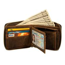 Crazy Horse кожаные мужские кошельки, винтажный кошелек из натуральной кожи для мужчин, ковбойский топ из тонкой кожи