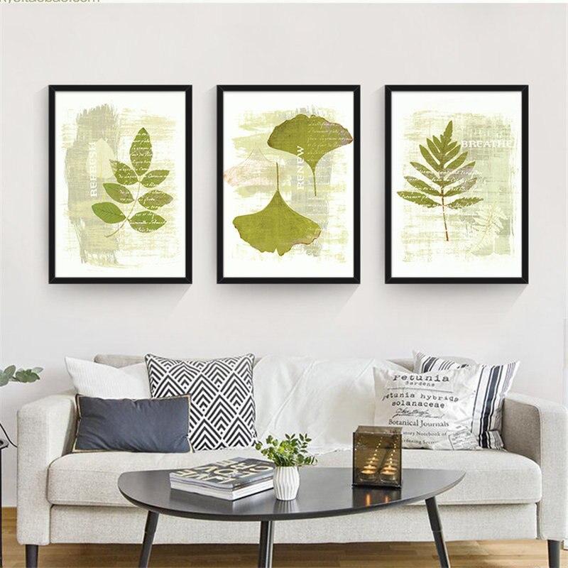 US $4.48 45% OFF|Moderne Tropical Banana Blätter Grüne Pflanze Leinwand  Malerei Kunstdruck Poster für Wohnzimmer Dekoration Kein Rahmen Bilder-in  ...