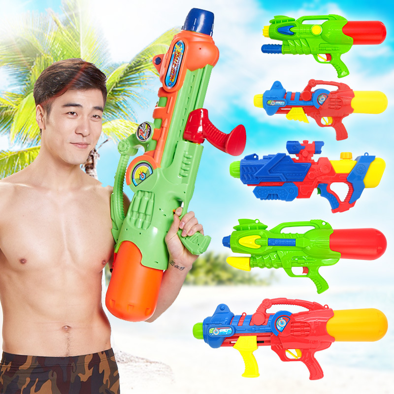 Large High Pressure Water Gun Toy Backpack Water Gun Beach Toy Swim Summer Hot Toy Water Gun  High pressure water gun Range Far